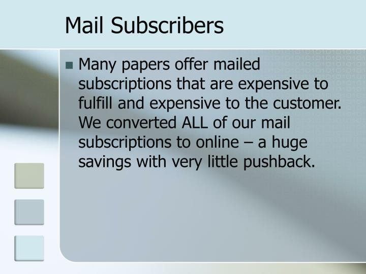Mail Subscribers
