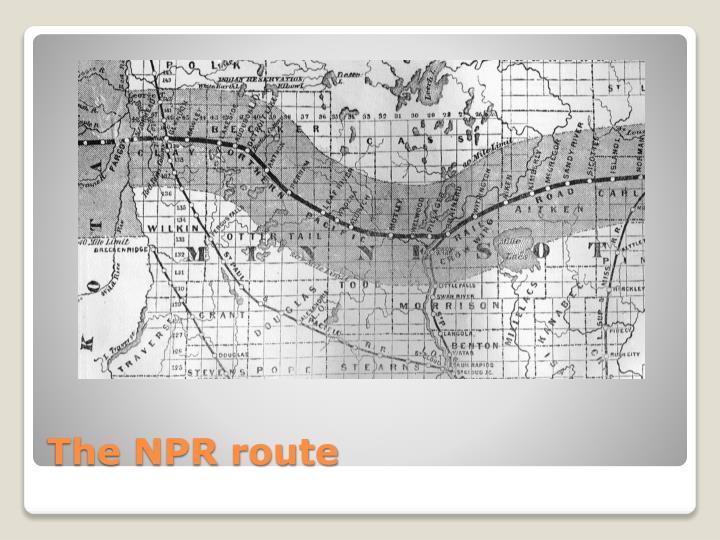 The NPR route