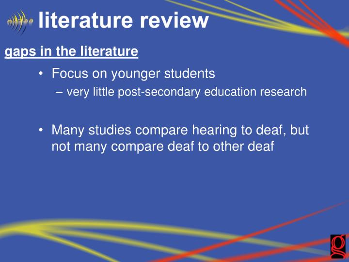 gaps in the literature