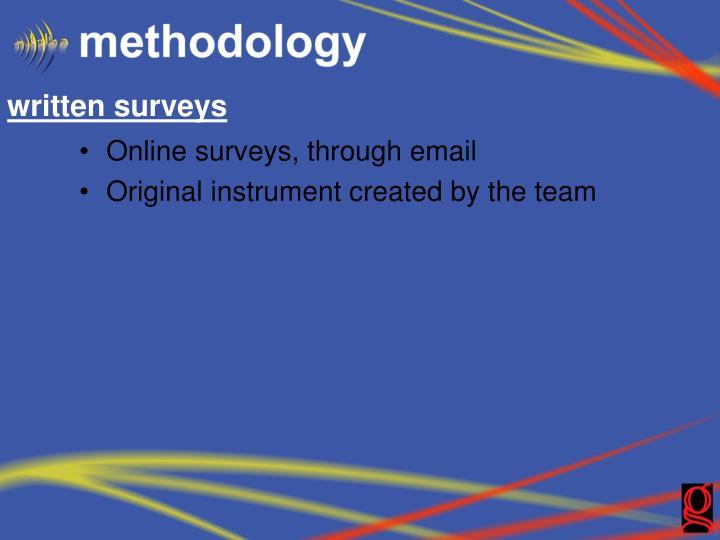 written surveys