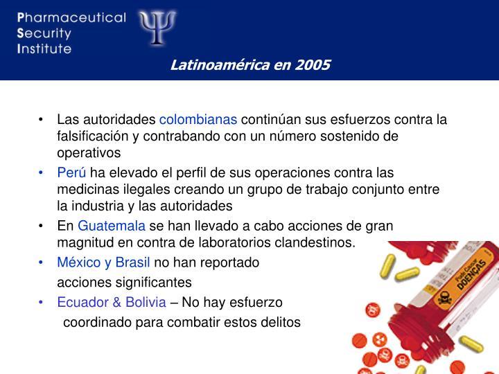 Latinoamérica en 2005
