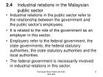 2 4 industrial relations in the malaysian public sector