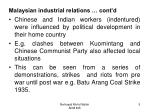 malaysian industrial relations cont d