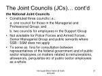 the joint councils jcs cont d