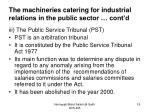 the machineries catering for industrial relations in the public sector cont d1