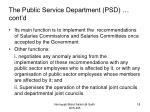the public service department psd cont d