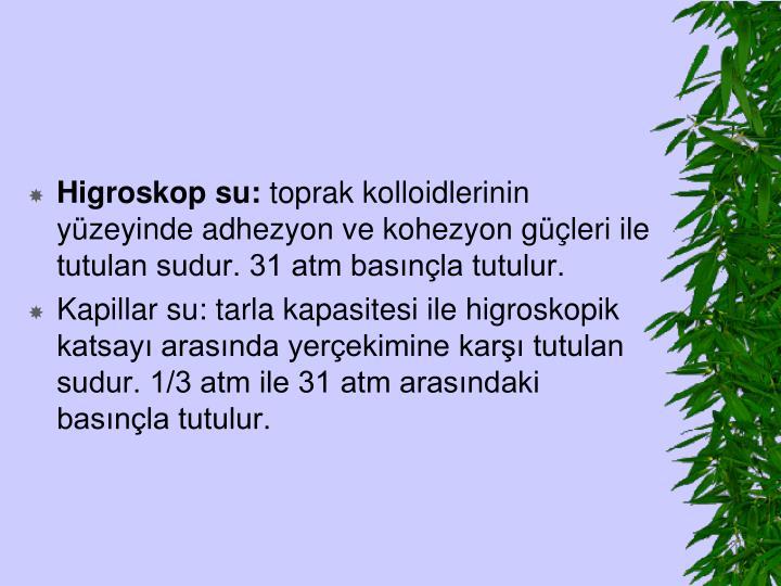 Higroskop su: