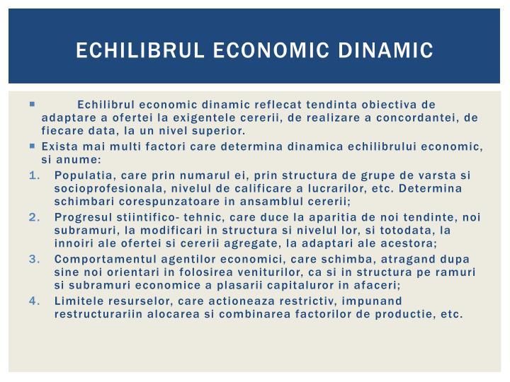 Echilibrul economic