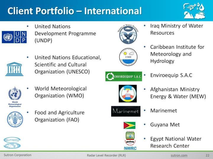 Client Portfolio – International