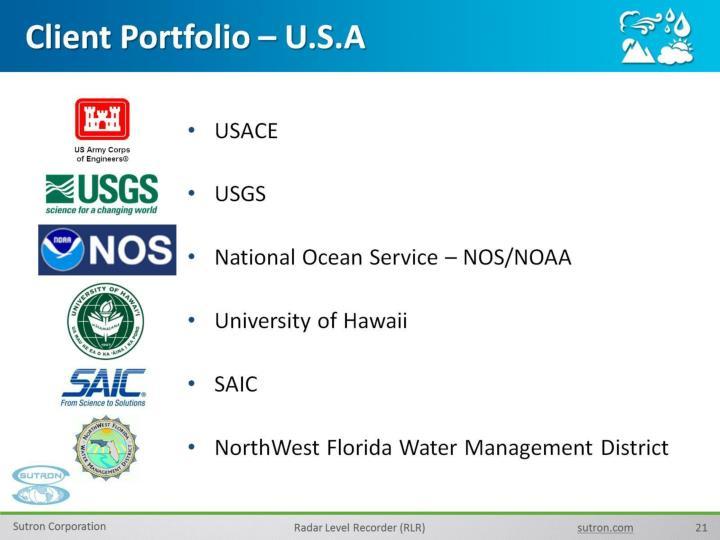 Client Portfolio – U.S.A