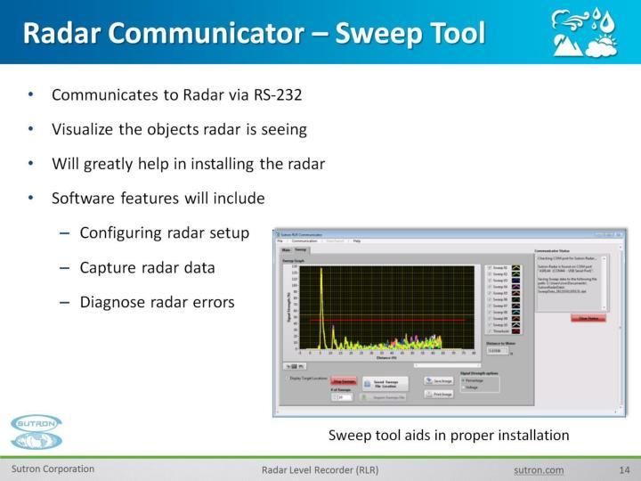 Radar Communicator – Sweep Tool