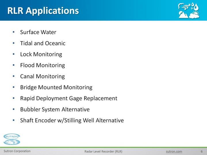 RLR Applications