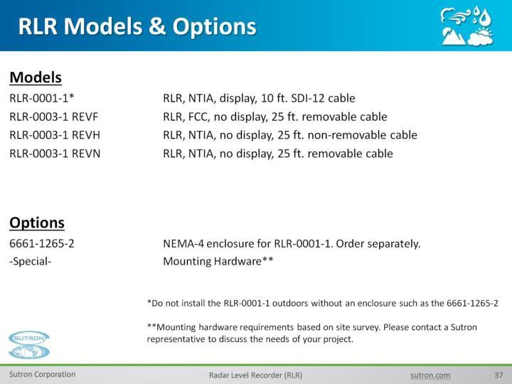RLR Models & Options