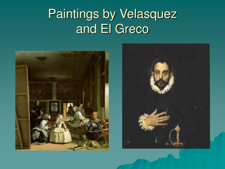 Paintings by Velasquez
