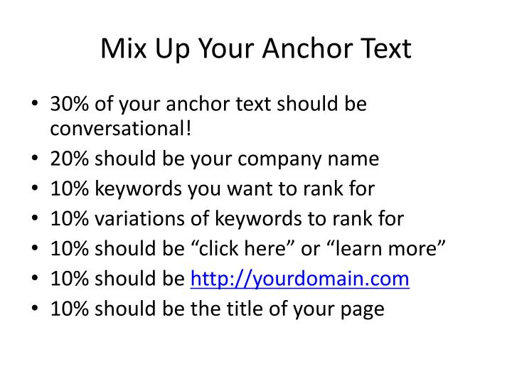 Mix Up Your Anchor Text