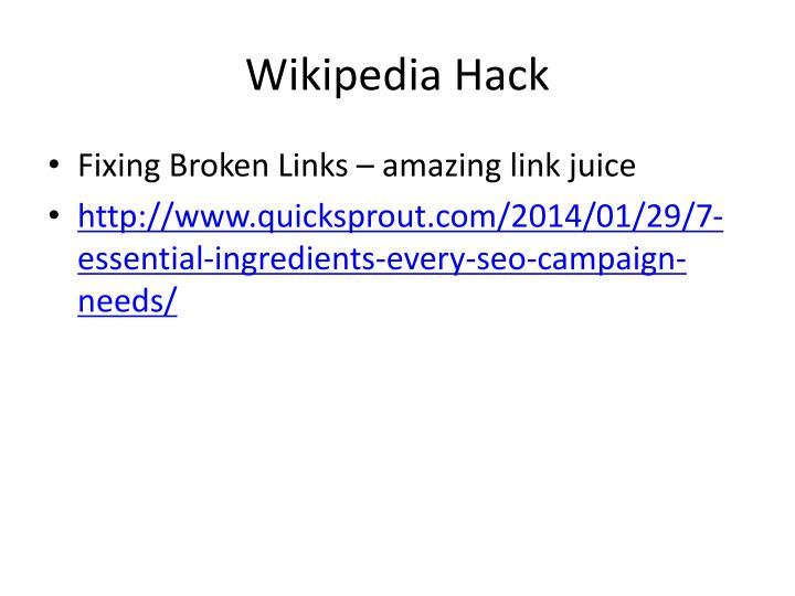 Wikipedia Hack