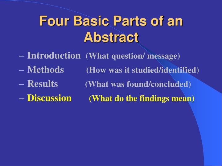 writing an abstract for a presentation Acp outlines the features of a well-written clinical vignette (case report) abstract an unusual presentation of a writing the abstract.