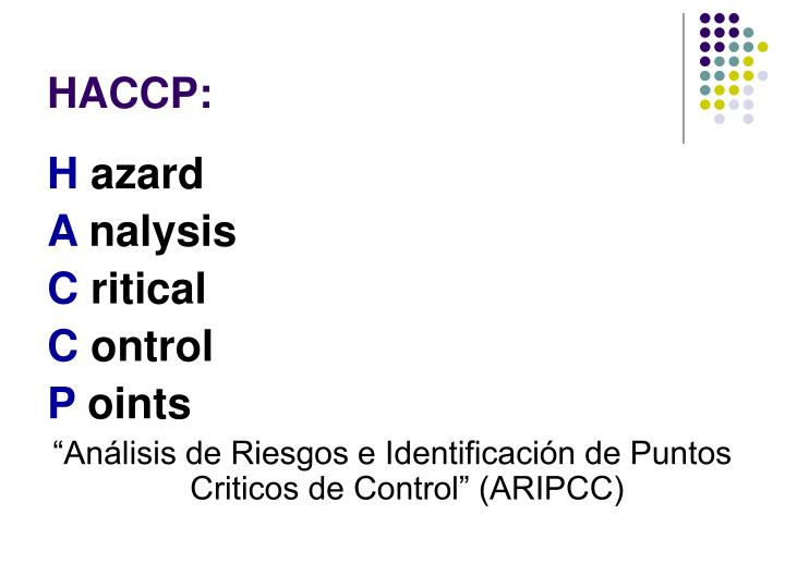 HACCP: