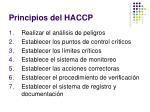 principios del haccp
