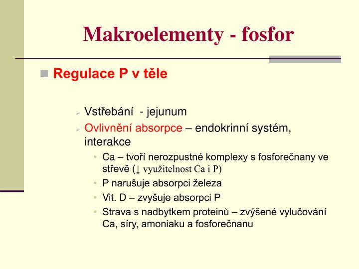 Makroelementy - fosfor