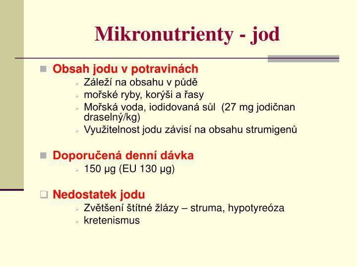 Mikronutrienty - jod