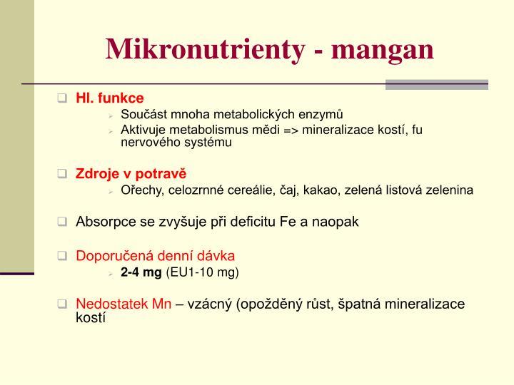 Mikronutrienty - mangan