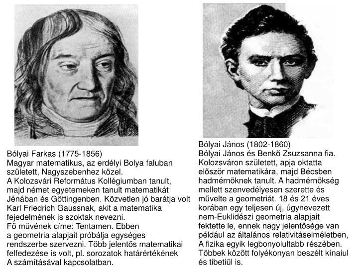 Bólyai János (1802-1860)