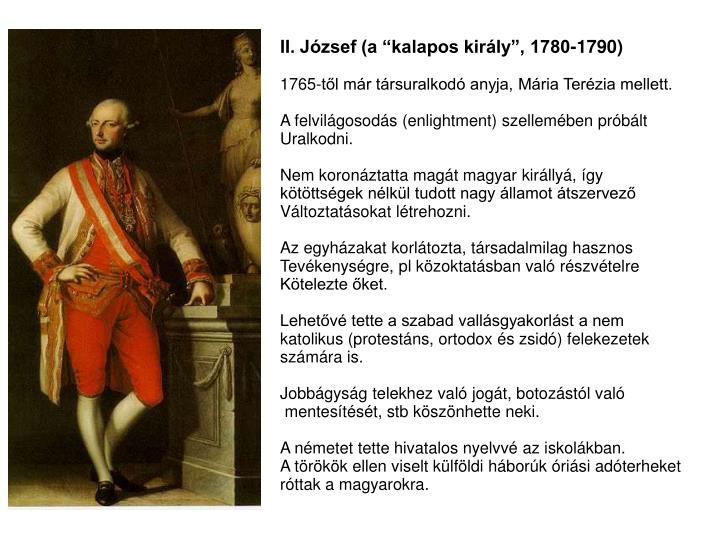 "II. József (a ""kalapos király"", 1780-1790)"