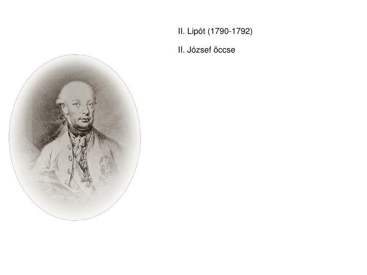 II. Lipót (1790-1792)