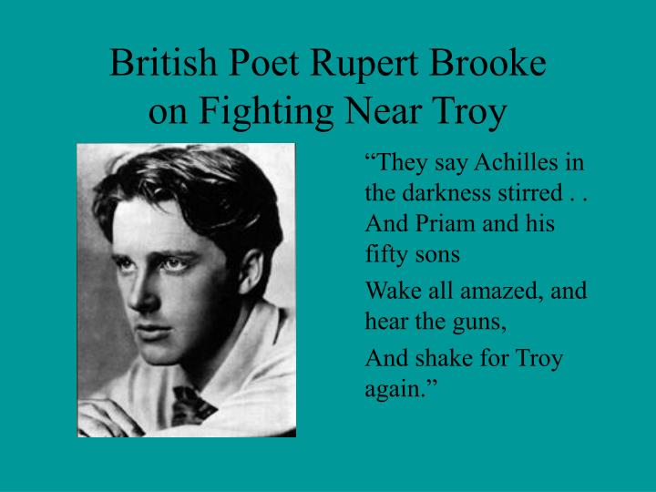 British Poet Rupert Brooke