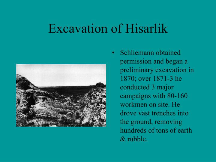 Excavation of Hisarlik