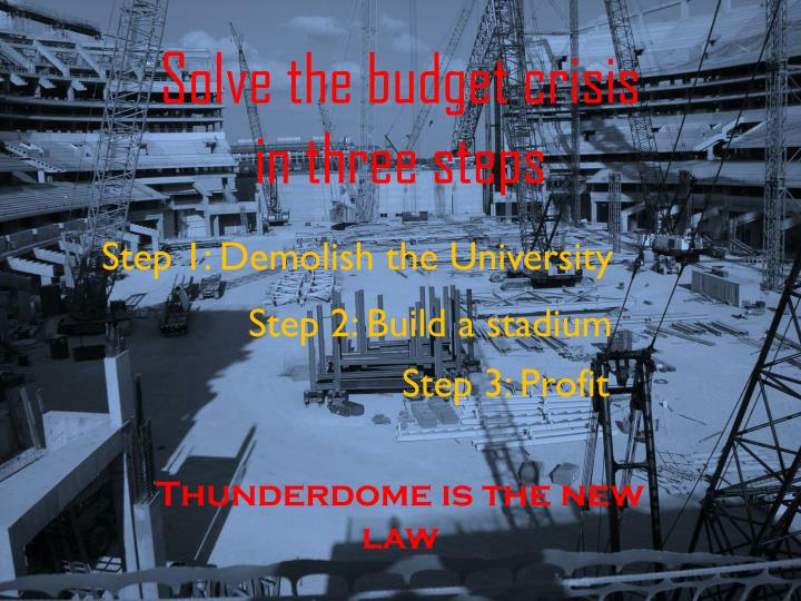 Thunderdome is the new law