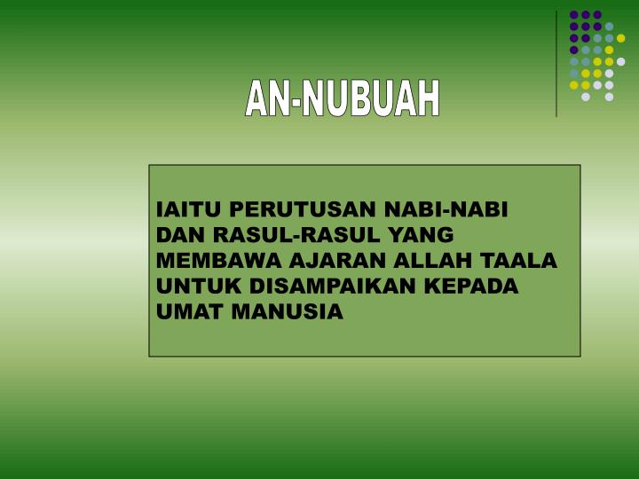 AN-NUBUAH