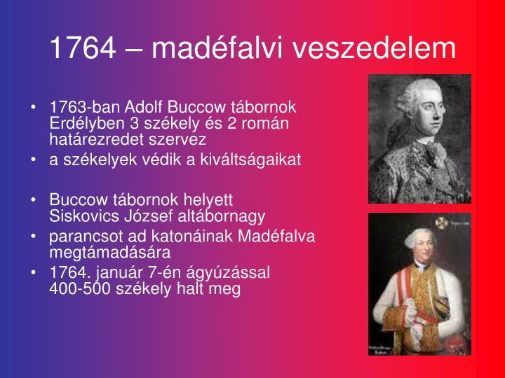 1764 – madéfalvi veszedelem