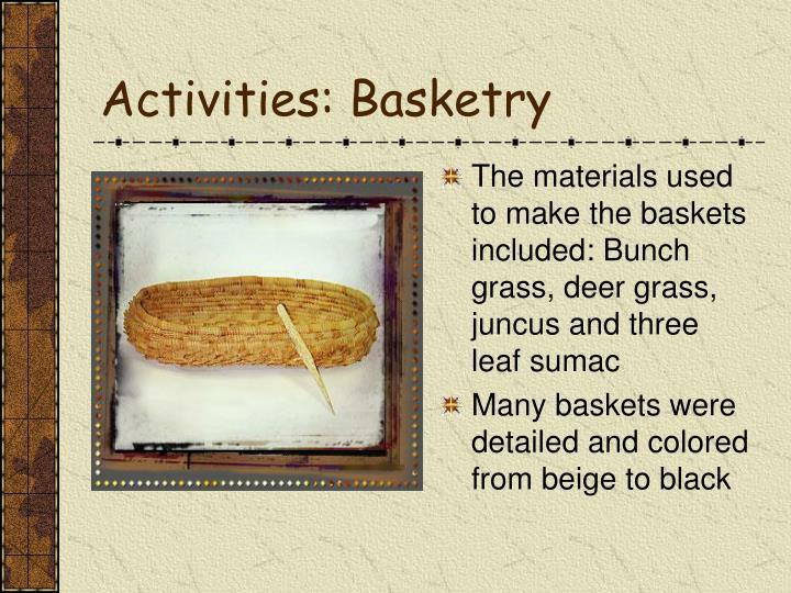 Activities: Basketry