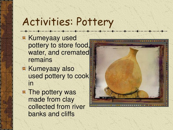 Activities: Pottery