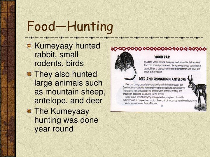 Food—Hunting
