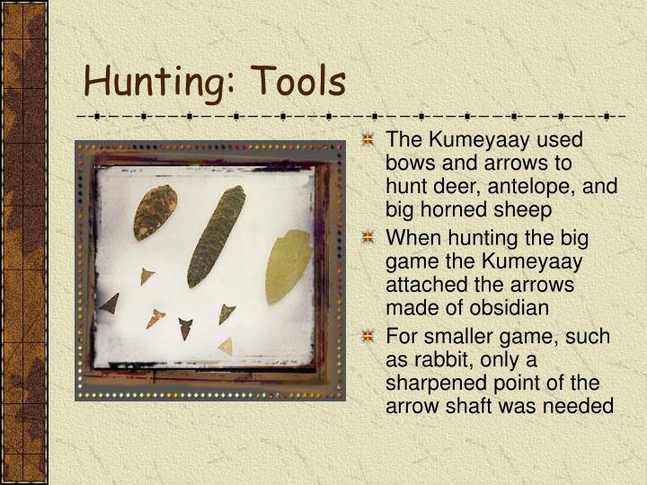 Hunting: Tools