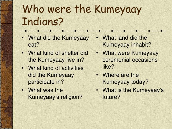 What did the Kumeyaay eat?