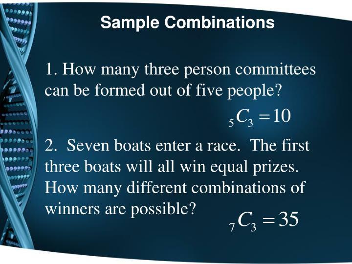 Sample Combinations
