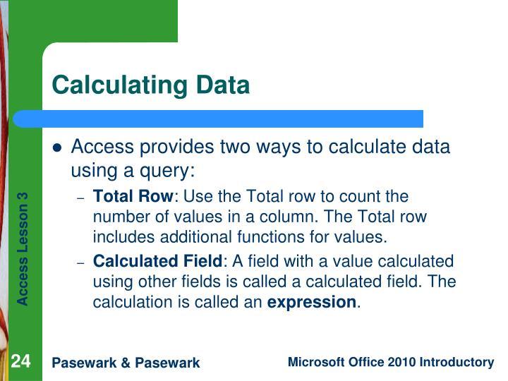 Calculating Data