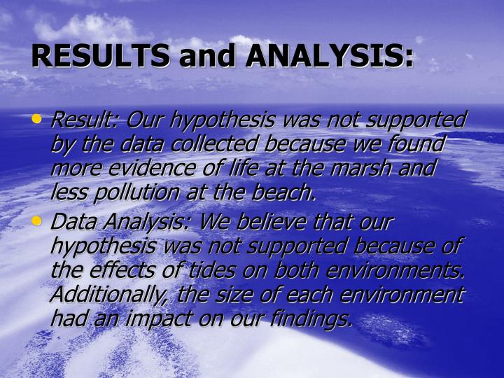 RESULTS and ANALYSIS: