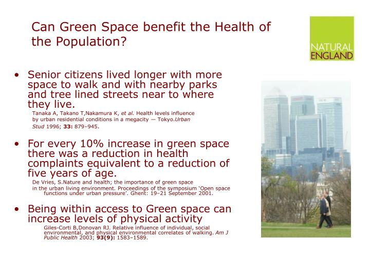 Can Green Space benefit the Health of the Population?