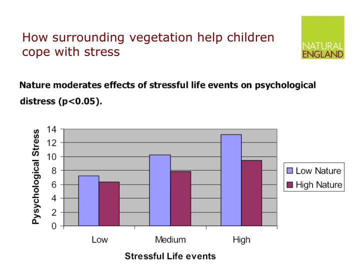 How surrounding vegetation help children cope with stress