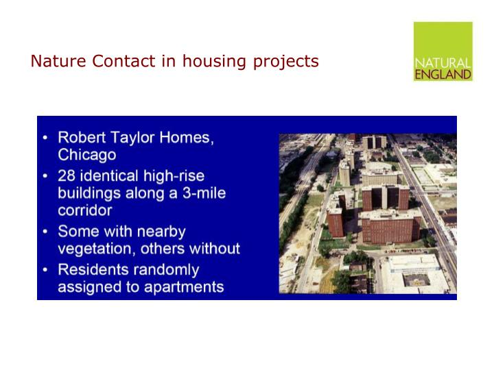 Nature Contact in housing projects
