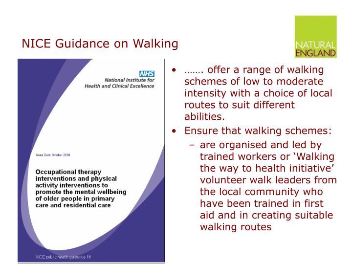 NICE Guidance on Walking