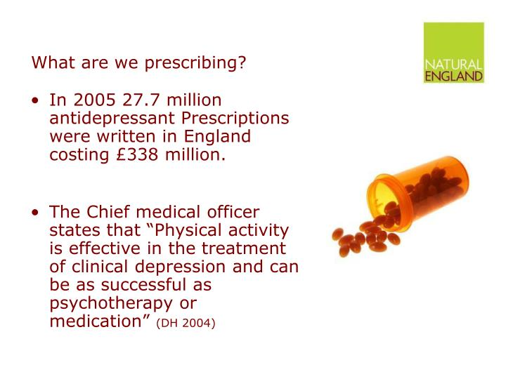What are we prescribing?