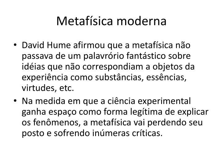 Metafísica moderna