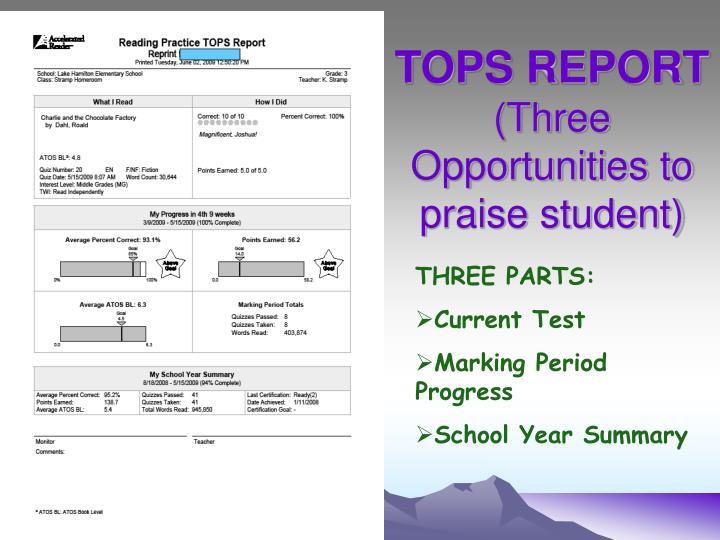 TOPS REPORT
