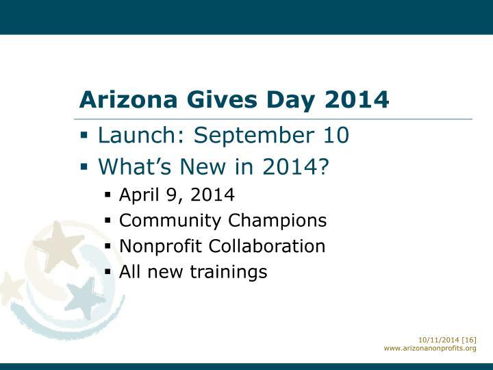 Arizona Gives Day 2014